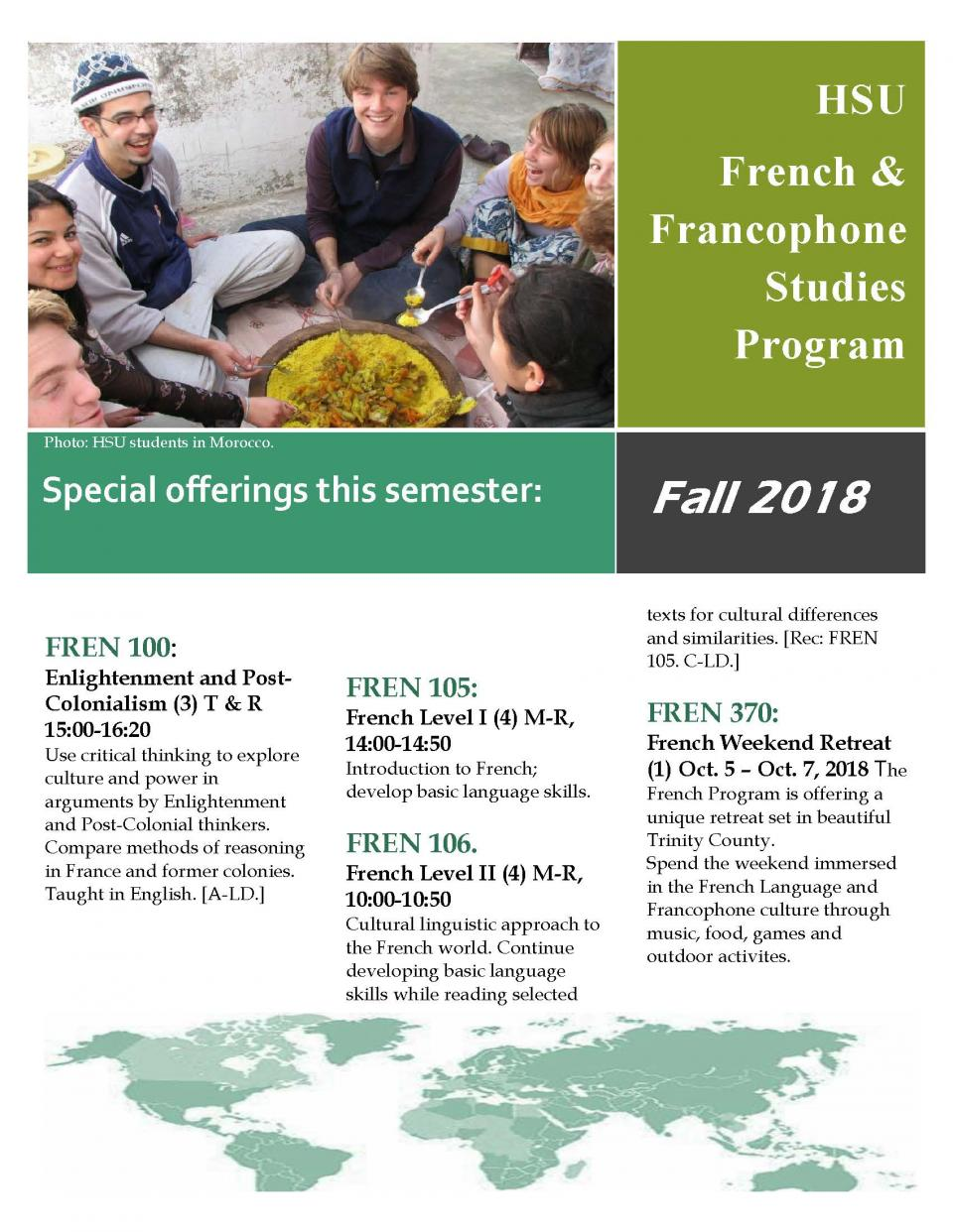 French classes Fall 2018
