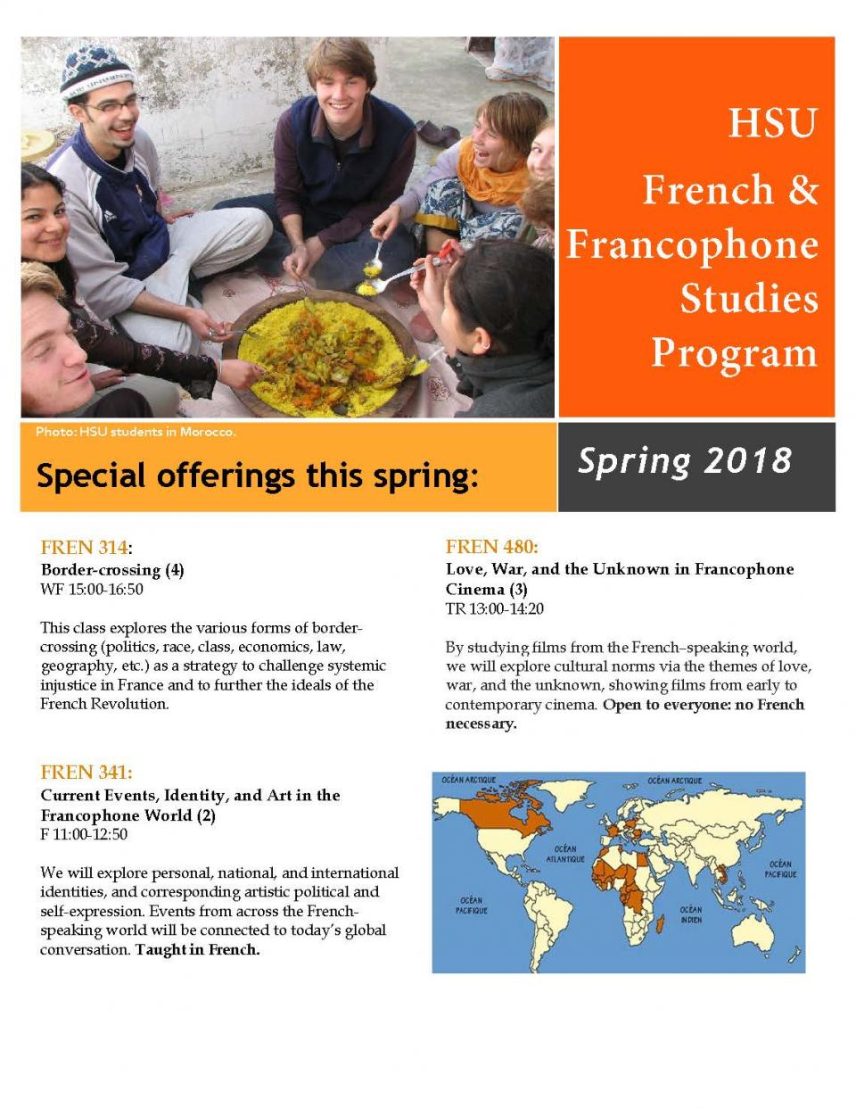 French classes spring 18 flyer