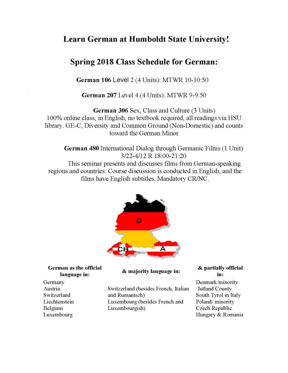 German classes spring 18 flyer