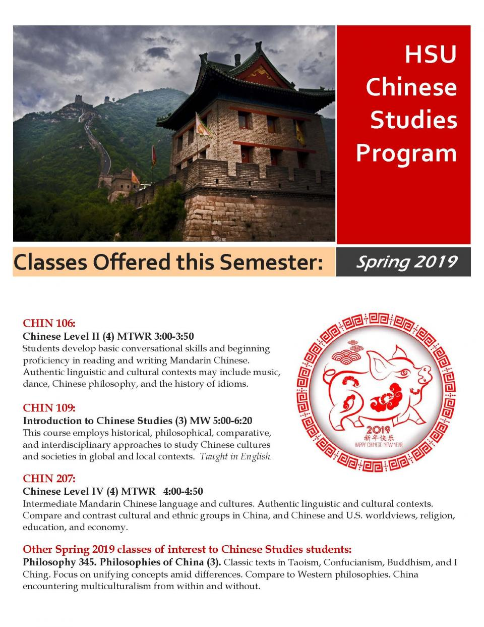Chinese flyer 2019