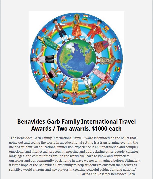 Benavides-Garb Travel Award Flyer