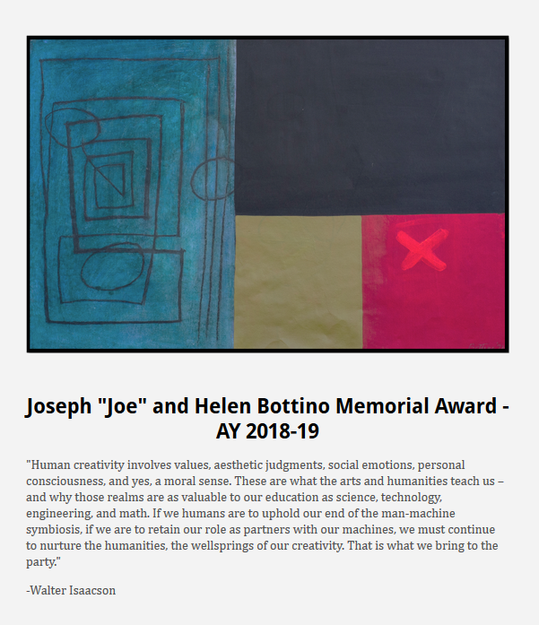 Bottino Memorial Award Flyer