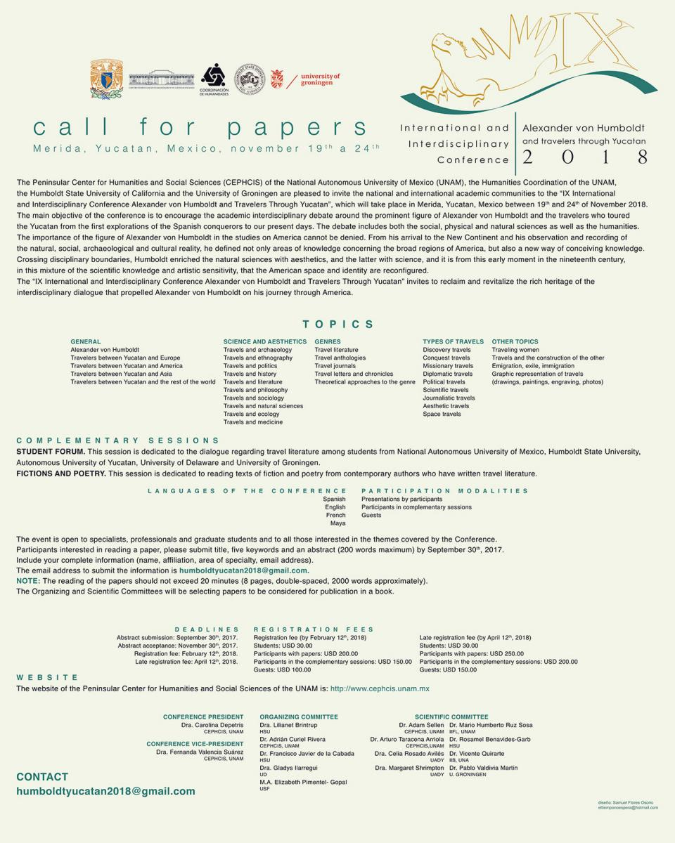 von Humboldt conference call for papers