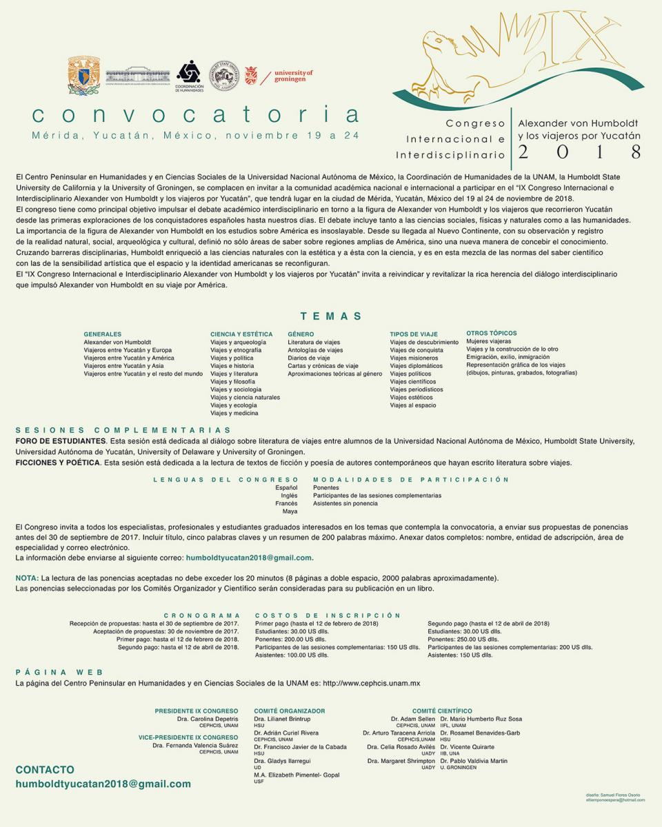 von Humboldt conference convocatoria
