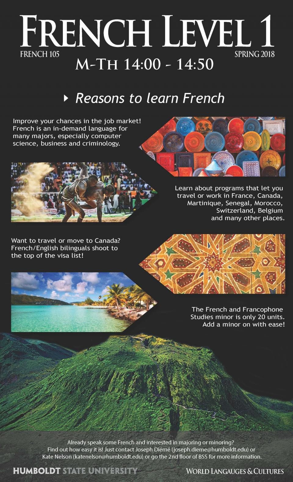 French 105 class flyer spring 2018