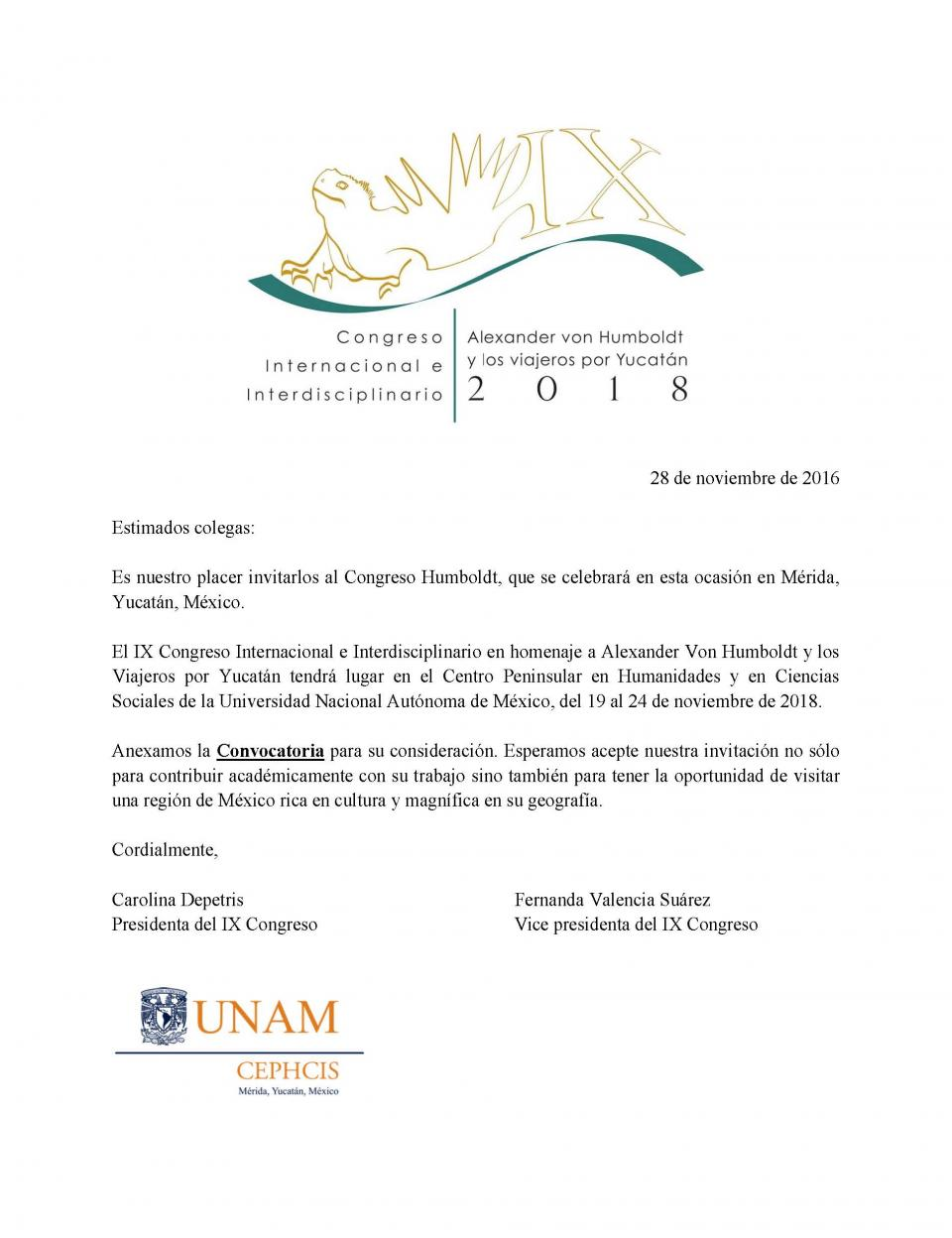 von Humboldt conference invitation