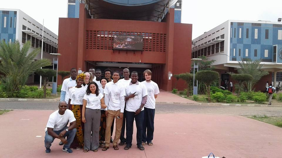 Students studying abroad in Senegal.