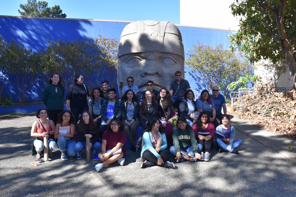 Spanish students and faculty participate in the Spanish Weekend Retreat Fall 2017.