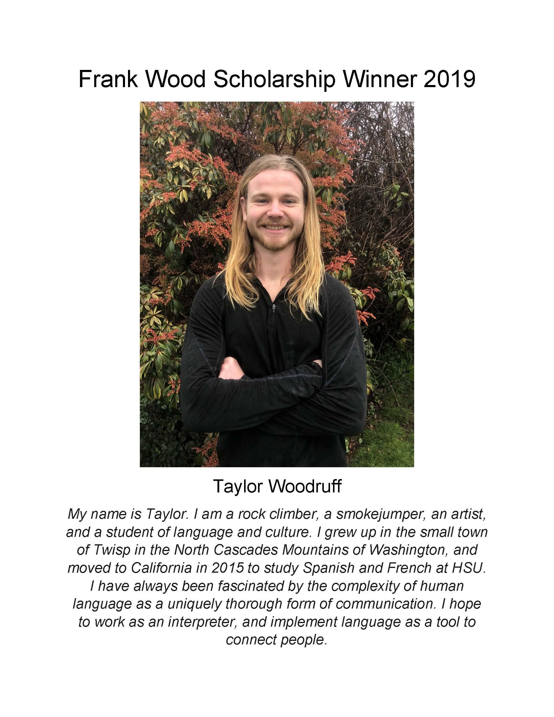 Wood scholarship winner
